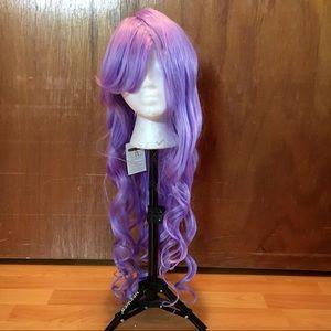 Long Curly Purple Wig 💜